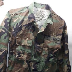 Vintage 1980's U.S. Army Camouflage Shirt